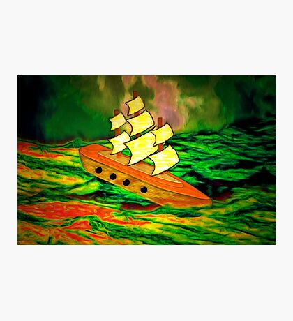 A Children's Wooden Sailing Ship Photographic Print