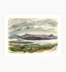 view from the Bealach Art Print