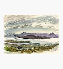view from the Bealach Photographic Print