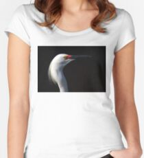 Snowy Egret  Women's Fitted Scoop T-Shirt