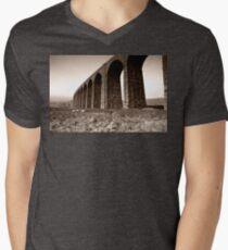Ribble Head Viaduct Mens V-Neck T-Shirt