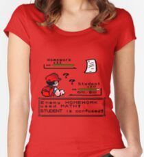 Homework Pokemon Battle Women's Fitted Scoop T-Shirt