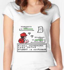 Homework Pokemon Battle Women's Fitted Scoop T-Shirt