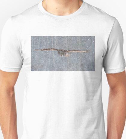 Snowfall - Great Grey Owl T-Shirt