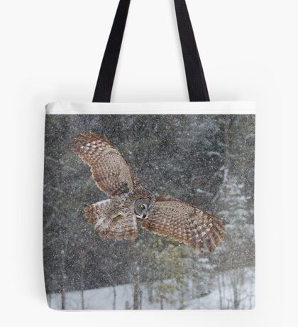 Through the Snow - Great Grey Owl Tote Bag