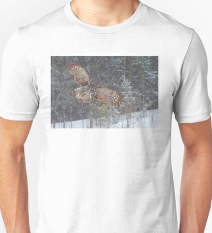 Through the Snow - Great Grey Owl T-Shirt