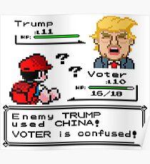 Donald Trump Pokemon Battle Poster