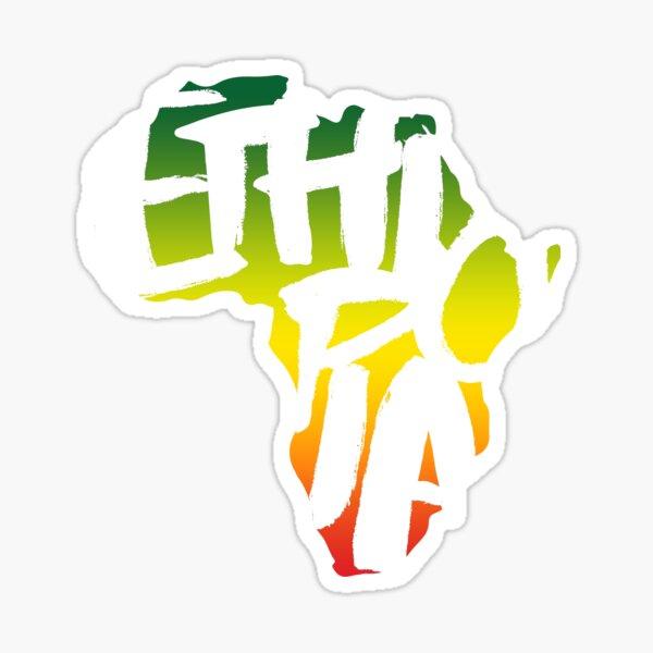 Ethiopia in Africa - White Sticker