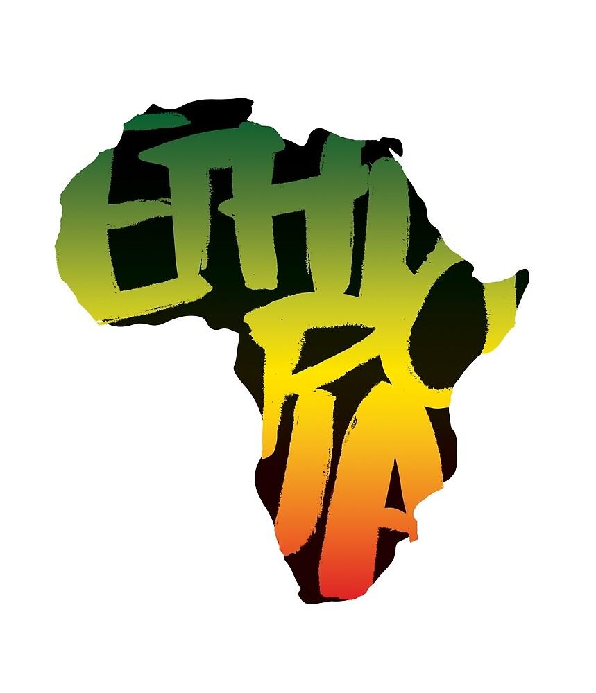 Ethiopia in Africa - Black by SHAOLIN JAZZ