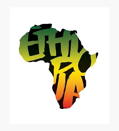 Ethiopia in Africa - Black Photographic Print