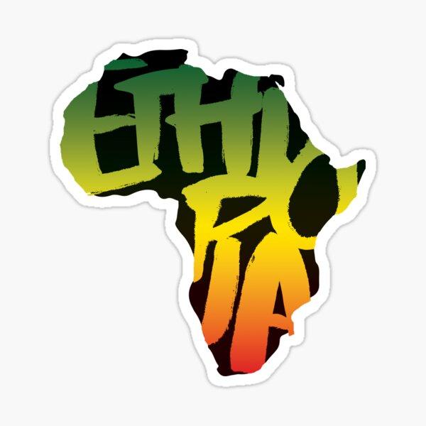 Ethiopia in Africa - Black Sticker
