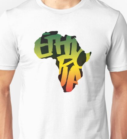 Ethiopia in Africa - Black T-Shirt
