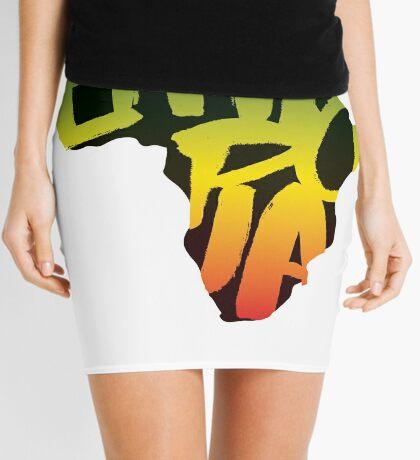 Ethiopia in Africa - Black Mini Skirt