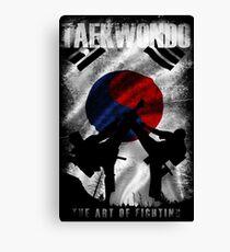Lienzo Taekwondo Mountain Fighter White Vintage 2 - Arte marcial coreano