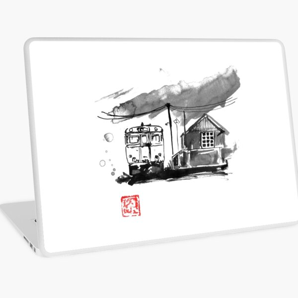 train station in japan Laptop Skin