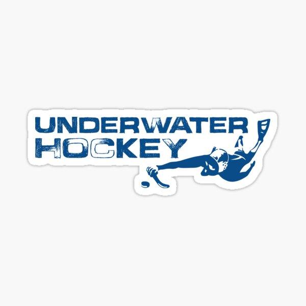 Underwater Hockey Swimmer with Stick and Puck Sticker