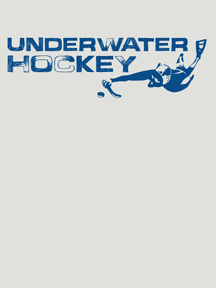 Underwater Hockey Swimmer with Stick and Puck by BOLD-Australia