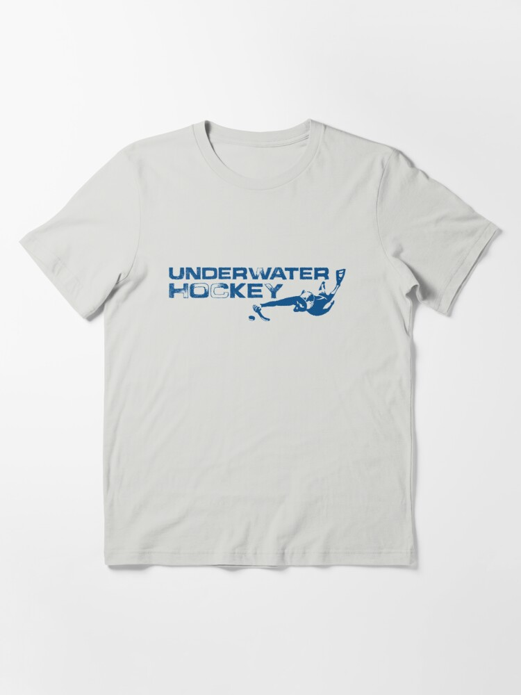 Alternate view of Underwater Hockey Swimmer with Stick and Puck Essential T-Shirt