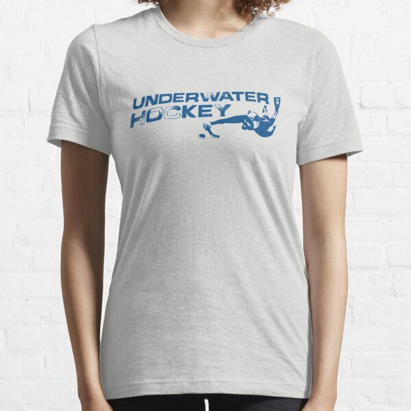 Underwater Hockey Swimmer with Stick and Puck Essential T-Shirt