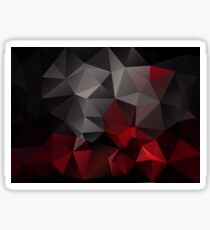 Abstract background of triangles polygon wallpaper in black red colors Sticker