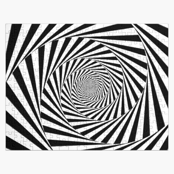 #Op art, #Art movement, #Optical #illusion Jigsaw Puzzle