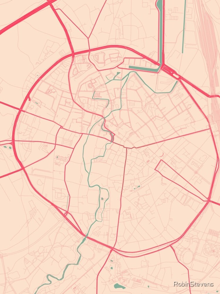 Leuven Map Springtime iPhone Cases Skins by RobinStevens