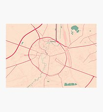 Leuven Map (Springtime) Photographic Print