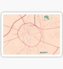 Leuven Map (Springtime) Sticker