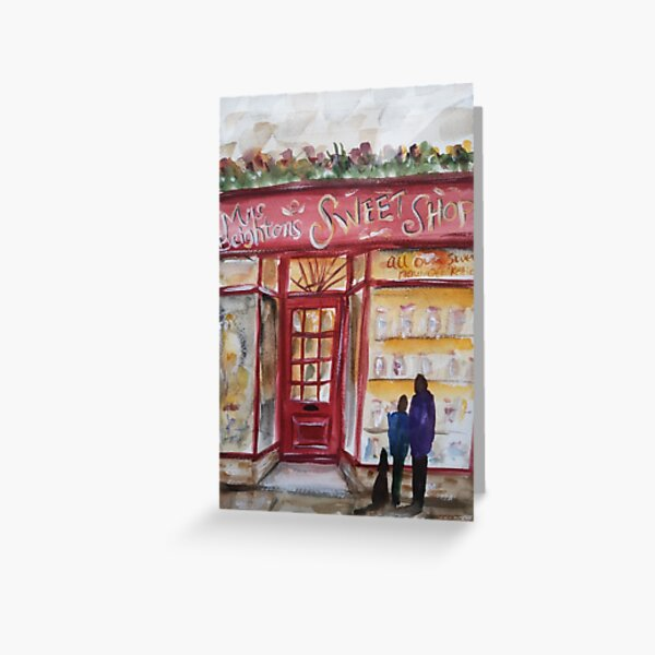 The sweet shop in Haworth, Yorkshire  Greeting Card