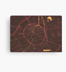 Leuven Map (Summer) Canvas Print