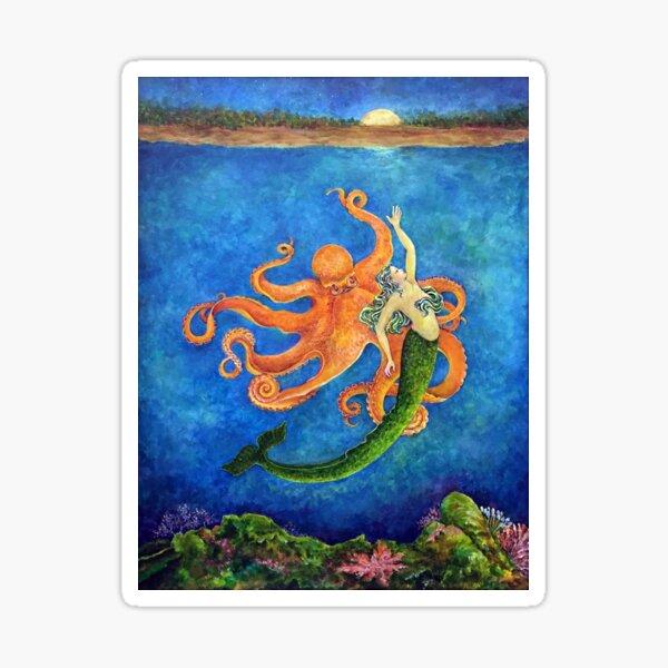 Moon Dance (Mermaid & Octopus) Sticker