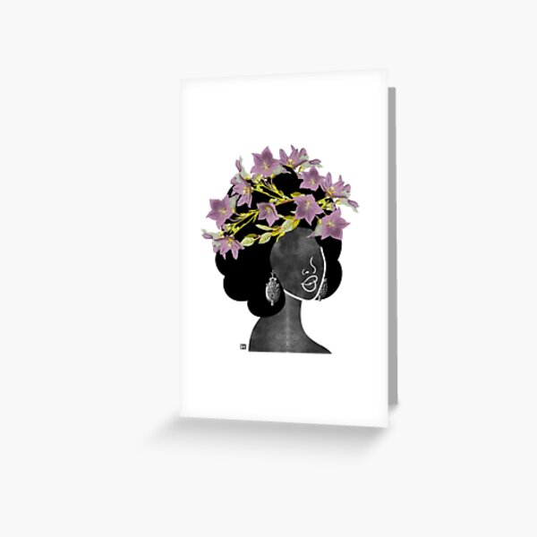 Wildflower Crown II Greeting Card