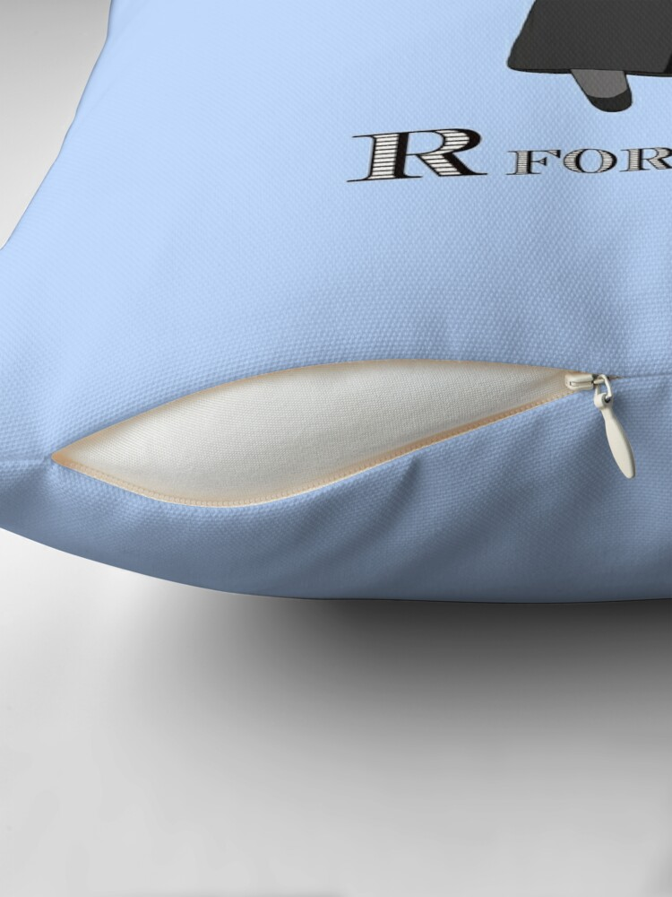 Alternate view of R is for Ruth Throw Pillow