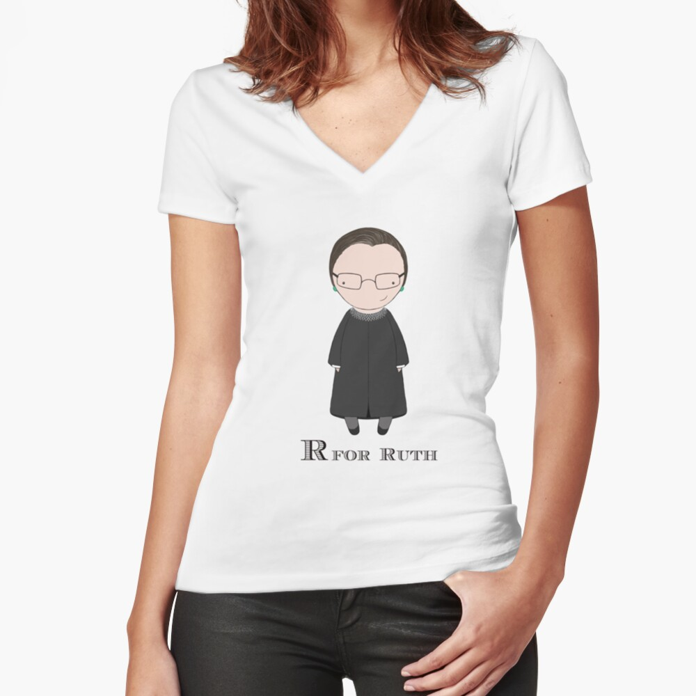 R is for Ruth Fitted V-Neck T-Shirt