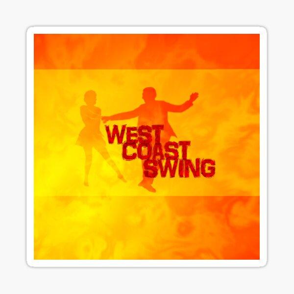 West Coast swing Sticker