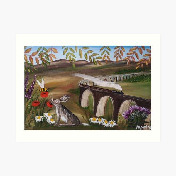 Glenphinnins viaduct Art Print
