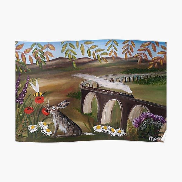 Glenphinnins viaduct Poster