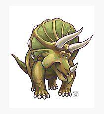 Animal Parade Triceratops Photographic Print