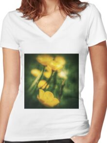 Through the Viewfinder Women's Fitted V-Neck T-Shirt
