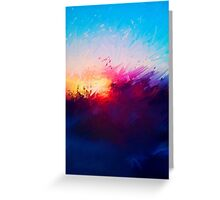 Sunset Warped Paint Effect Greeting Card