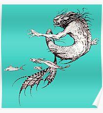 Fantasy Naga from Faeries Poster