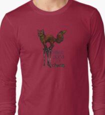 Flounce, the Fox on Stilts (Sky) Long Sleeve T-Shirt