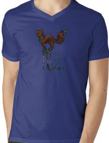 Flounce, the Fox on Stilts (Sky) Mens V-Neck T-Shirt