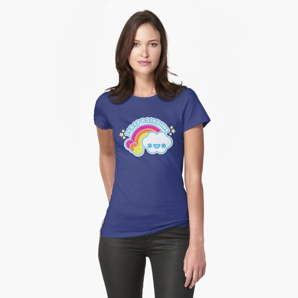 I Crap Rainbows Womens T-Shirt Front