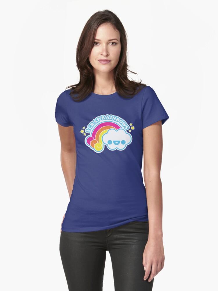 I Crap Rainbows Womens T-Shirt Front