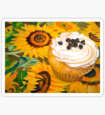 Cupcakes and Sunflowers... Sticker