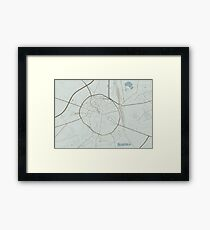 Leuven Map (Winter) Framed Print