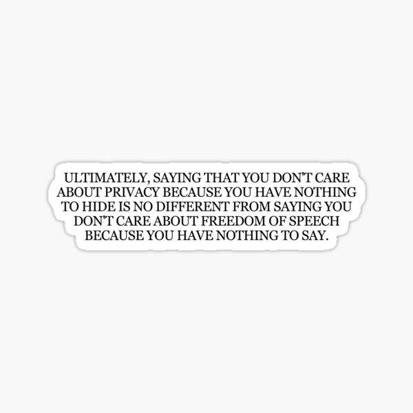 """Edward Snowden """"Permanent Record"""" Book Quote Sticker"""