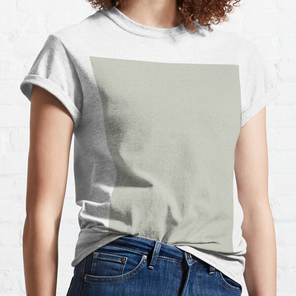 Pastel Gray Green Single Solid Color Classic T-Shirt