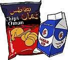 Oman Chips and Laban Up Duo by mariabluelines